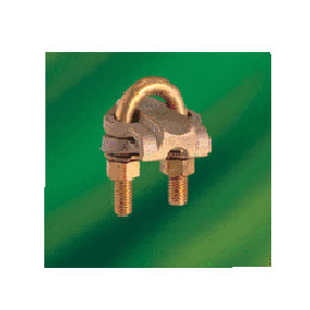 Heavy Duty Ground Connector Parallel/90 Degree Copper Cables 1-1/4 Pipe, Cable 2/0-4