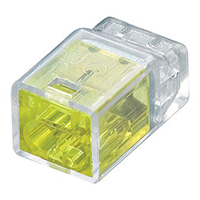 Yellow 2 Wire Push-In Wire Connector