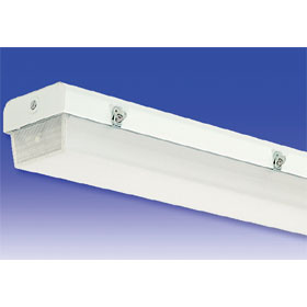 L5 2-Lamp T8 Fluorescent Tandem Damp Location Fixture