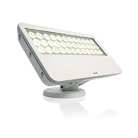 eW Blast Powercore 4000K LED Frosted Lens Black Floodlight