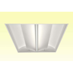 Eliana Series 2 x 2 2-Lamp 24W T5HO Fluorescent Recessed Direct/Indirect Luminaire, 120-277V, EM