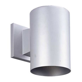 Cylinder Antique Bronze 7.25 in. 75W PAR30/BAR30 Heavy Duty Outdoor Wall Light
