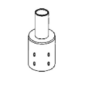 Pole Adaptor for 2-3/8 in. Tenon to 3 in. Round Pole