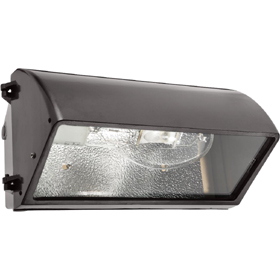 WP4C 320W Metal Halide Cutoff Wall Pack, PS Quad Tap