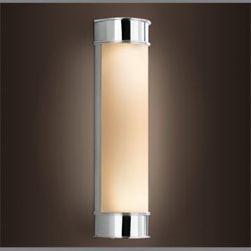 Kent Sconce Frosted Glass Shade 2-Lamp 60W Bath Fixture