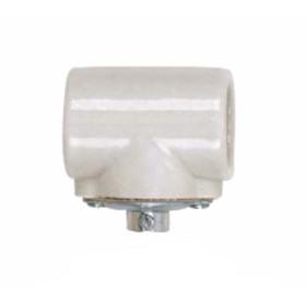 Porcelain CSSNP Shell Medium Twin Socket with Flange Bushing Cap, 1/8 IPS