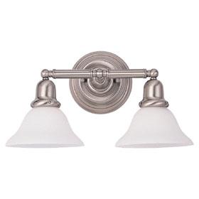 Sussex Two Light Decorative Brushed Nickel Bath Bracket