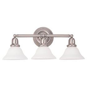 Sussex Three Light Decorative Brushed Nickel Bath Bracket