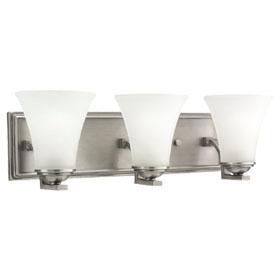 Somerton Three Light Antique Brushed Nickel Bath Bar