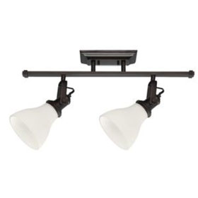 Burnt Sienna 2-Light 60W Satin White Glass Track Light Kit