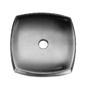 Single Hole Canopy Plate Gray