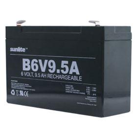 Lead Acid 6 Volt 9.5 Amp/Hour Rechargeable Battery