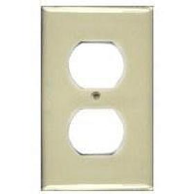 Ivory Single Gang Duplex Receptacle Plate