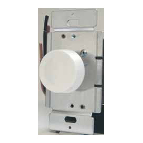 Ivory 600W Single Pole Rotary Dimmer