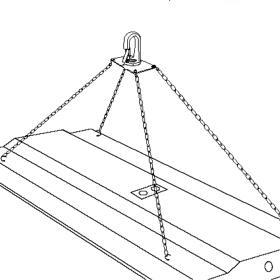 Hi-Bay Fixtures Latch Hook Hanging Kit