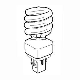 42W 2700K GX24 PL Compact Fluorescent Lamp