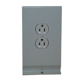 Brown 15A Receptacle Section for Baseboard Heater