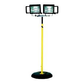 Portable Dual Head Quartz Halogen Utility Light Pedestal Base
