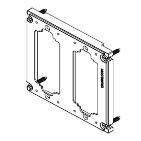 Electrical Enclosure Assembly Approved for the Lutron SeeTouch Keypad, QSWS2-6BRLN, and ST-6BRL-NI