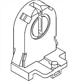 4-Pin Non-Shunted T8, T10, T12 Instant Start Lampholder