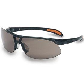 Protege Gray Lens Safety Glasses, Black Frame, AF