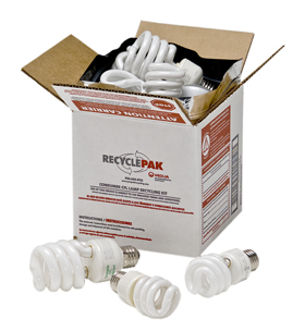 Recyclepak Prepaid Compact Fluorescent Lamp Recycling Kit