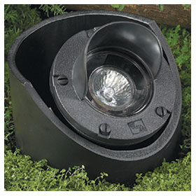 Rust 20W MR16 Flood Low Voltage In-Ground Well Light, Adjustable Housing and Glare Shield
