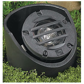 Rust 20W MR16 Flood Low Voltage In-Ground Well Light, Adjustable Housing and Grate