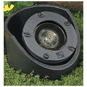 Green 20W MR16 Flood Low Voltage In-Ground Well Light, Adjustable Housing
