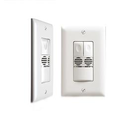 DW-200 Dual Technology Dual Relay Ivory Wall Switch Sensor