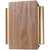 Solid Oak Cover with Satin Brass Tubes Two Note Door Chime