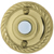 Polished Brass Round Rope Trim Recess Mount Door Chime Push Button