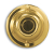 Solid Polished Brass Round Lighted Door Chime Push Button