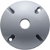 Silver Gray Single Hole Die-Cast Round Cover